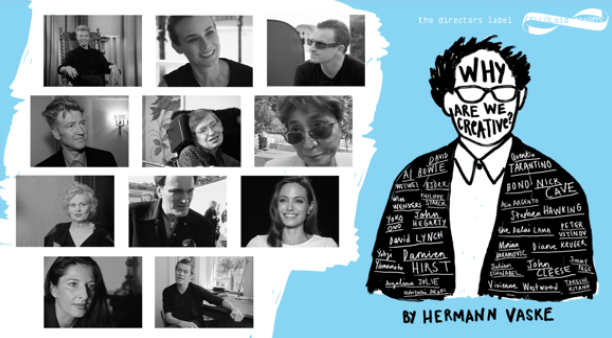 """""""WHY ARE WE CREATIVE"""" by Hermann Vaske has been nominated for the Cinema for Peace Award for the Most Valuable Documentary of the Year 2019!!"""